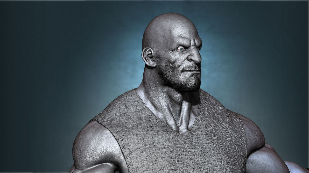 Human Male Character 3D Model Game ready .obj .mtl ...