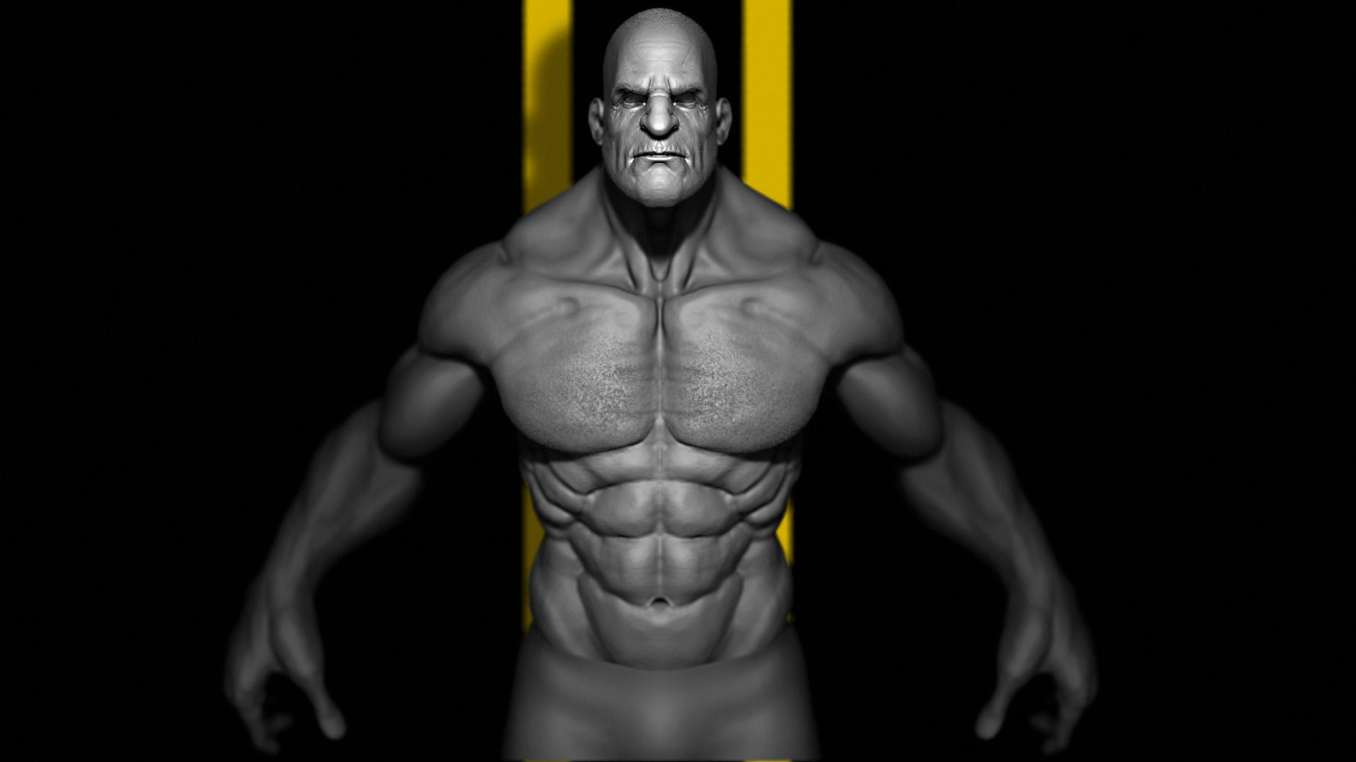 Human Male Character 3d Model Game Ready Obj Mtl