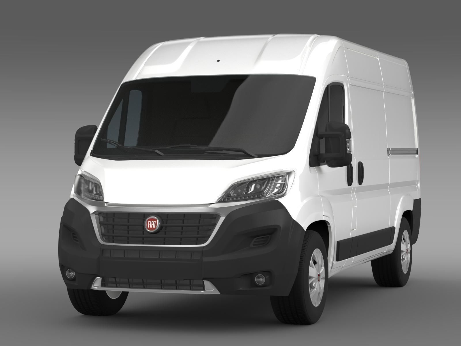 fiat ducato van l2h2 2015 3d model max obj 3ds fbx. Black Bedroom Furniture Sets. Home Design Ideas
