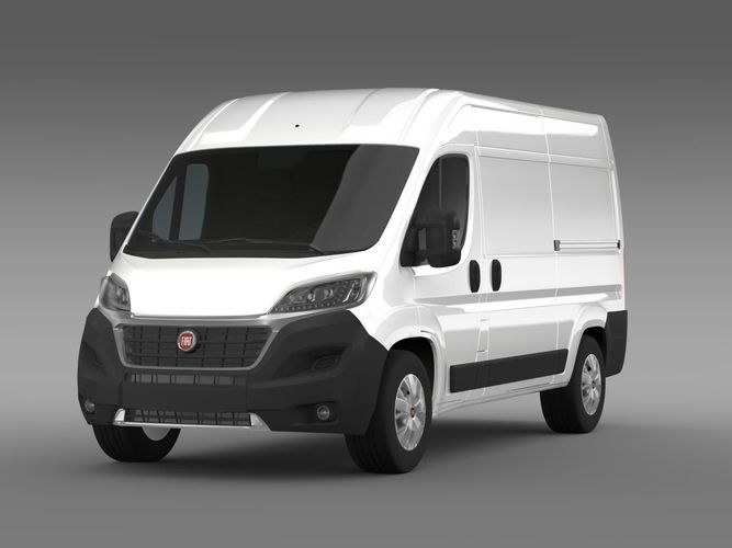 fiat ducato van l2h2 2015 3d model max obj 3ds fbx c4d lwo lw lws. Black Bedroom Furniture Sets. Home Design Ideas