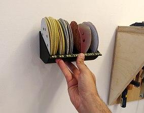 sanding discs rack -organizer - 5 inch 3D print model
