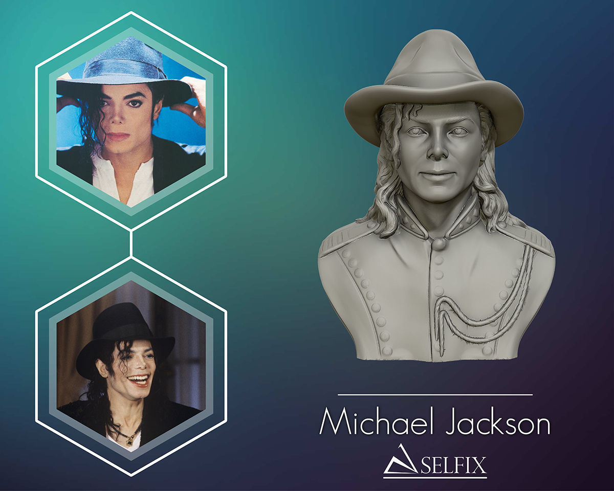 Michael Jackson  3D sculpture