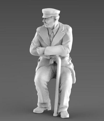 old man 3d model 3d model max obj mtl fbx stl 1
