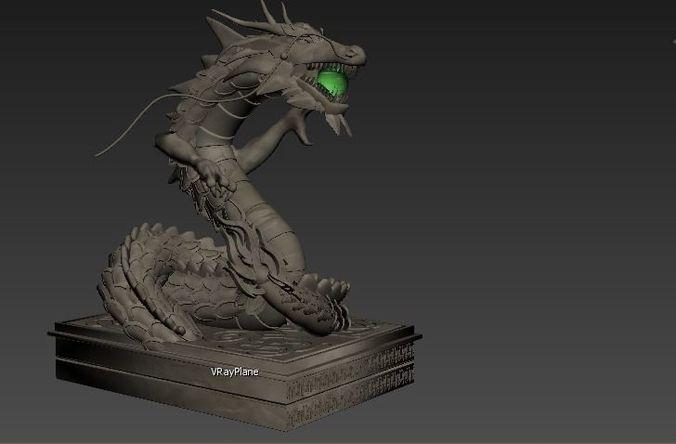 dragon 3d model obj mtl 1