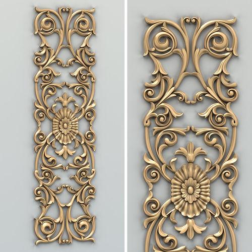 carved decor vertical 014 3d model max obj mtl fbx stl 1