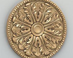 Round rosette 014 3D model