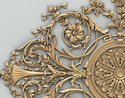 Carved decor central 017 3D model
