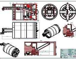 TBM2500 Full Face Tunnel Boring Machine Shield 3D model 1
