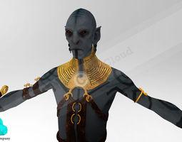 Elf guard Character 3D Model