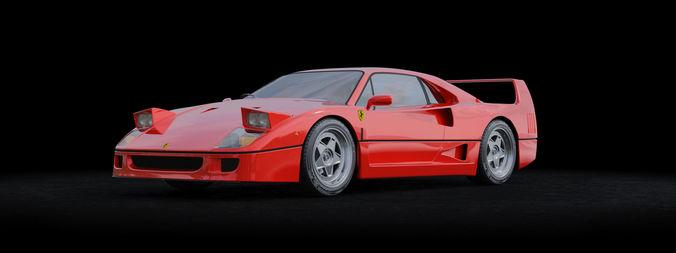 Ferrari F40 Italien 3d Animated Cgtrader