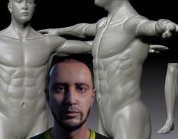 low-poly 3d asset realistic man