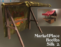 3D model MarketPlace Booths - Silk 2
