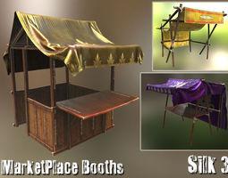 PBR 3d model marketplace booths - silk3