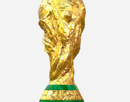 Low Poly Art FIFA World Cup Trophy 3D model