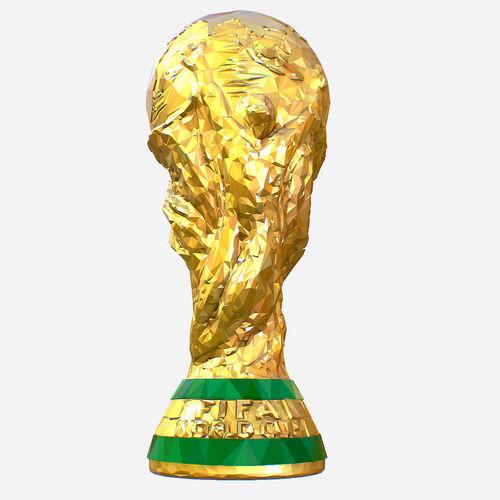 low poly art fifa world cup trophy 3d model max obj mtl fbx ma mb tga 1