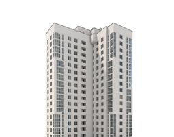 3D glass Residential Building