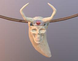 3D PBR Youth Pendant Viking Skull