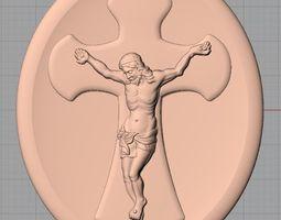 Christian Cross Jesus 3D Relief model J31