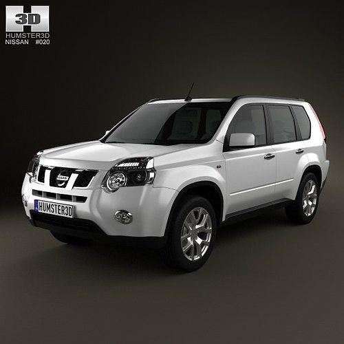 nissan x-trail 2011 3d model max obj 3ds fbx c4d lwo lw lws 1