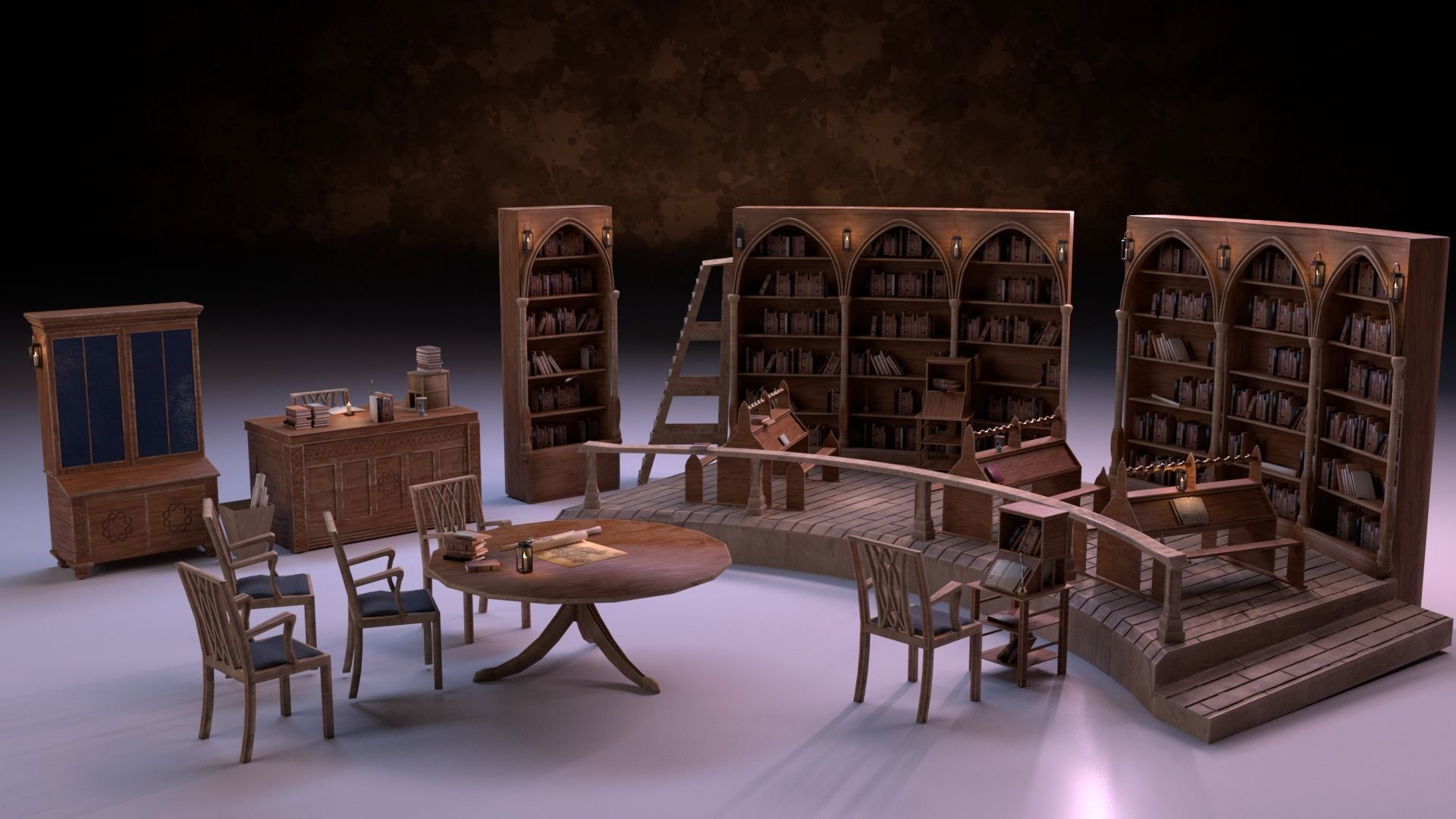 Medieval Library Model Pack PBR