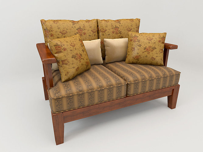 Sofa Country Style Free 3d Model Max