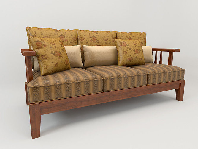 Sofa Country Style 3d Model Cgtrader
