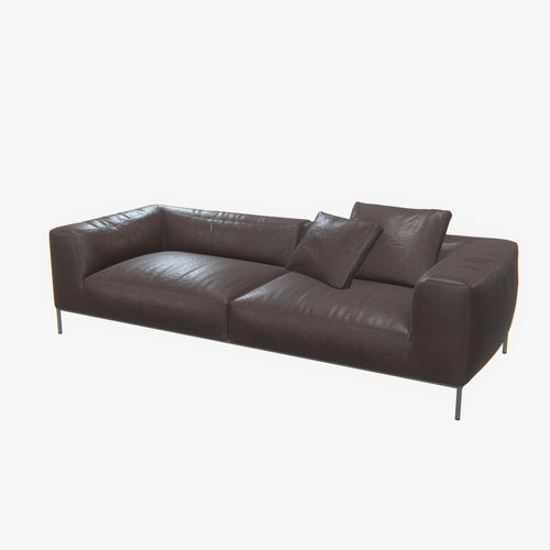 3d highly detailed b b italia frank sofa pbr cgtrader. Black Bedroom Furniture Sets. Home Design Ideas