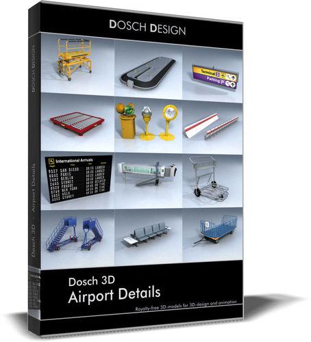 dosch 3d - airport details 3d model max obj mtl 3ds fbx c4d lwo lw lws 1