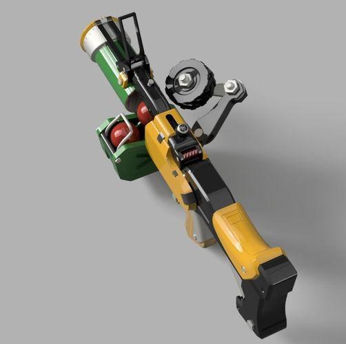 junkrat launcher - overwatch 3d model stl 1