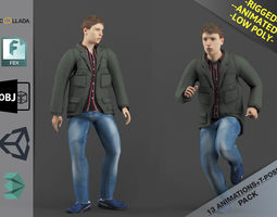 Young Man1 Animation Pack 3D asset