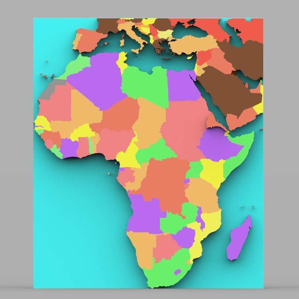 3D African Continent Map | CGTrader