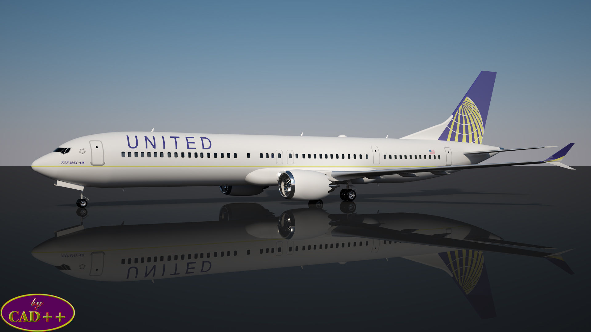 United Airlines 737 MAX-10 | 3D model