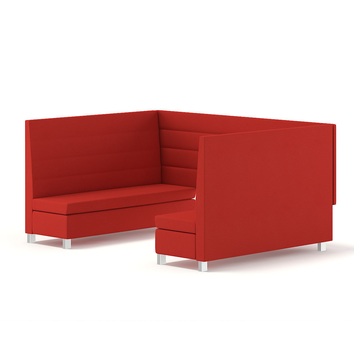 Red Restaurant Sofas Model Max Obj Mtl Fbx C4d 2