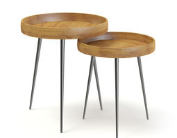 3D Two Small Tables