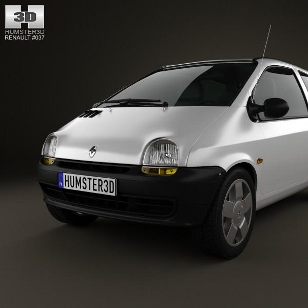 Renault Twingo: Renault Twingo 1992 3D Model .max .obj .3ds .fbx .c4d .lwo