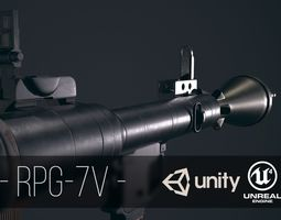 launcher 3D model low-poly RPG-7
