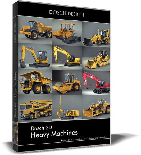 dosch 3d - heavy machines 3d model max obj mtl 3ds fbx c4d lwo lw lws 1