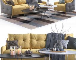 3D Pohjanmaan Jenson armchair and sofa