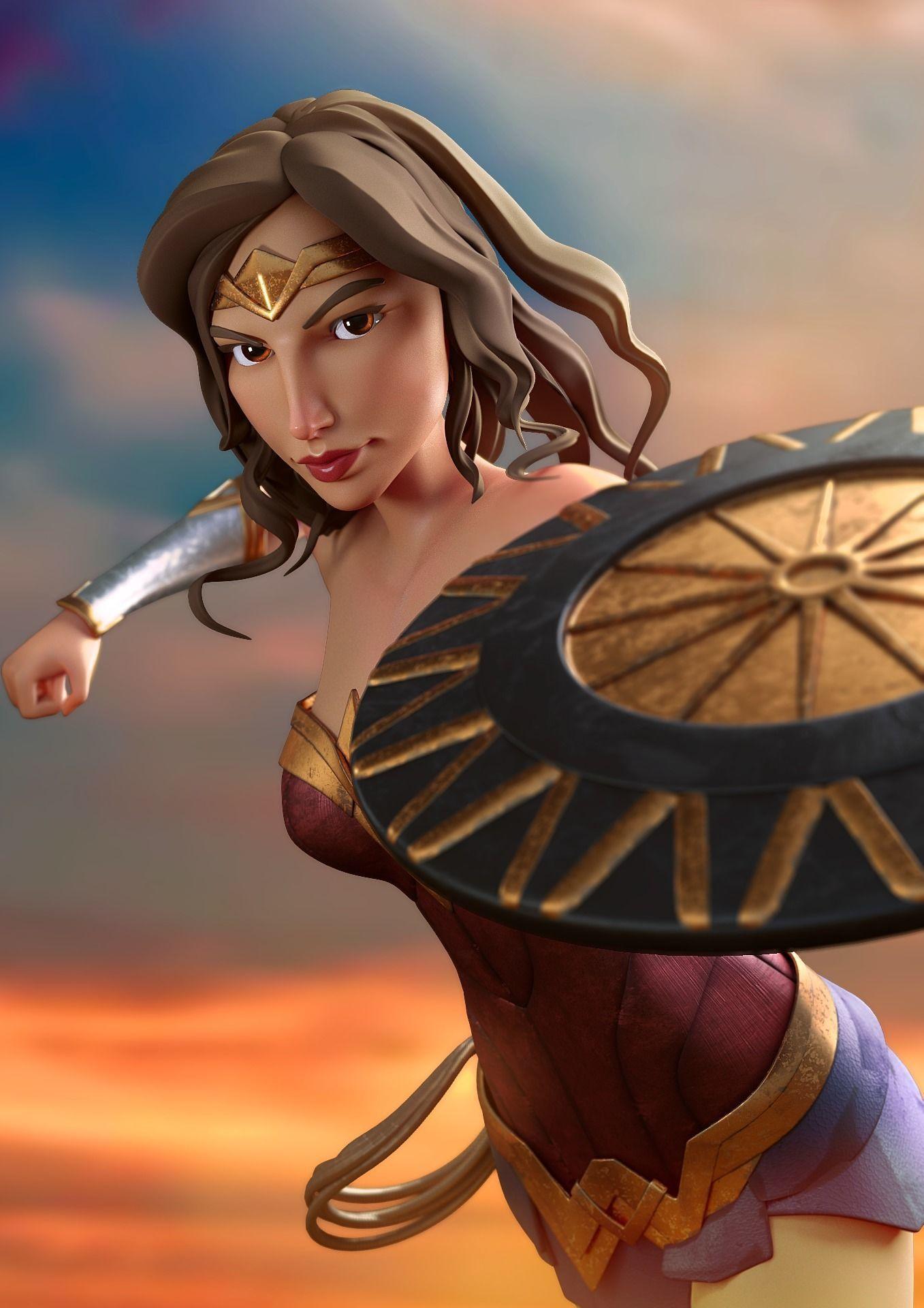 Wonder Woman cartoon model