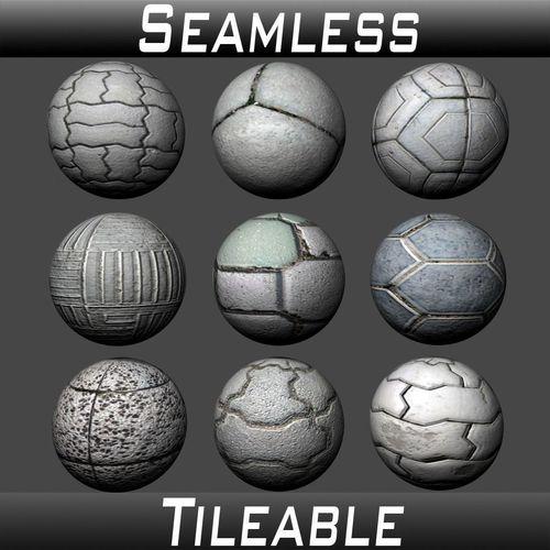 floor tiles texture pack 2 3d model  1