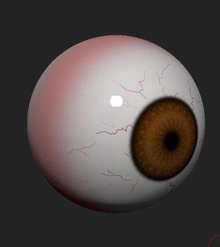 Alpha Eye Free 3D Model .ztl