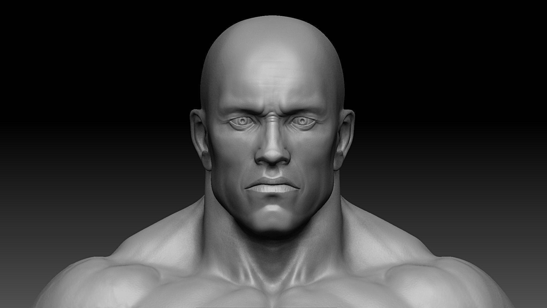 60 Sofa Table Muscular male body 3D Model Game ready .obj .fbx .ztl ...