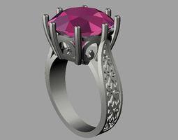 emerald Gemstone Ring 3D printable model