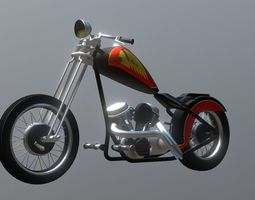 3D model Custom Chopper Motorcycle Bobber