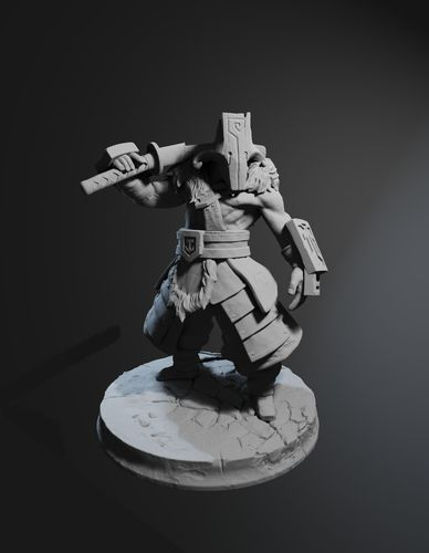 juggernaut dota 2 high poly 3d model obj mtl fbx stl blend dae 1