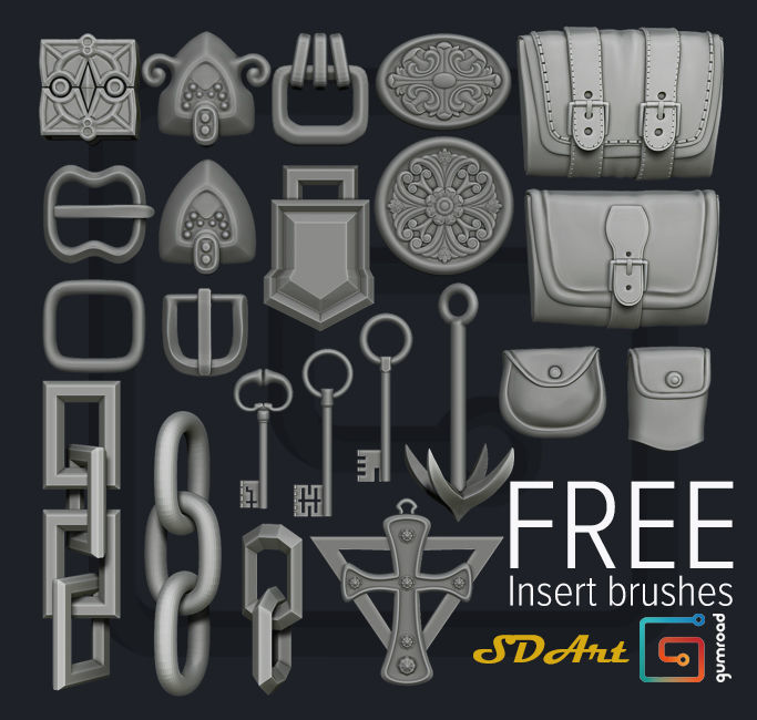 3D IMM-Brushes-Pack-01 | CGTrader