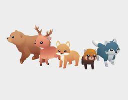 3D model Forest Animals - Wild Series