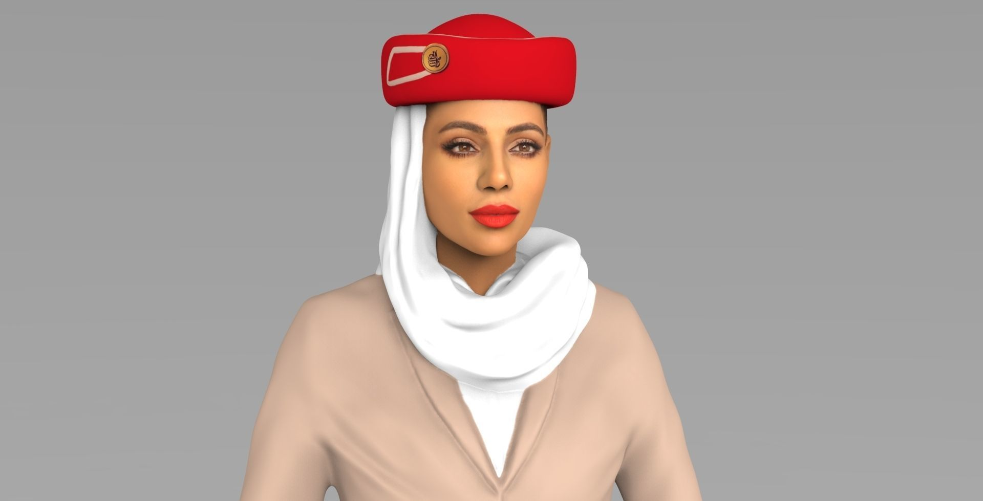 Emirates Airline Stewardess Highly Realistic