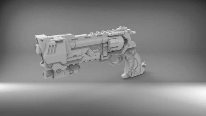 blackwatch mccree revolver 3d model stl 1