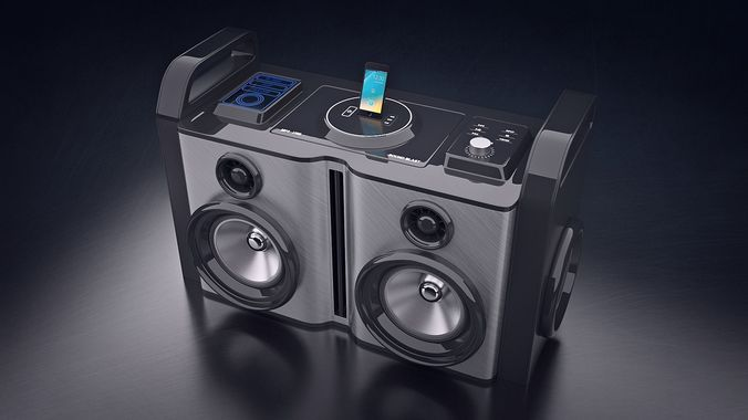 boom box 3d model blend 1